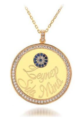 Cadde Takı İsimli Nazar Gümüş Madalyon