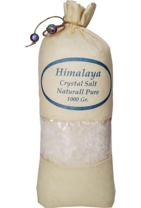 Himalaya İthal Himalaya Tuzu Granül İri Tane Beyaz - 1 Kg. Orjinal Bez Torba Kristal Tuz