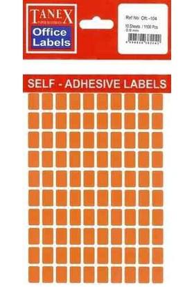 Ofc-108 Flo Kırmızı Ofis Etiketi 50 Ad-10-Lu Poşet