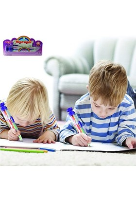 TveT 8 Renkli Basmatik Fosforlu Kalem