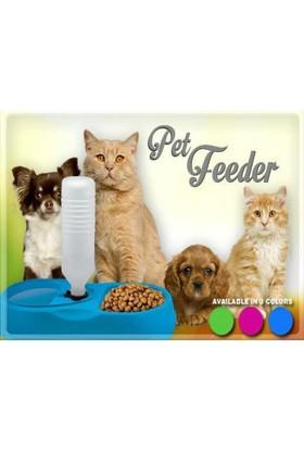 TveT Finepet Kedi ve Köpek İçin Otomatik Su ve Mama Kabı