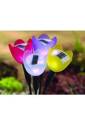 TveT Güneş Enerjili Lale Tasarım Solar Bahçe Lambası - Sarı
