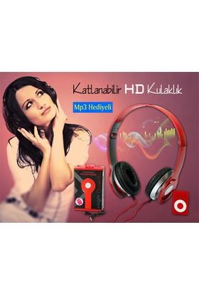 TveT Headphone Katlanabilir Hd Kulaklık ve Mp3 Çalar