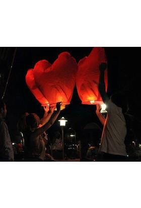 TveT Kalp Şeklinde Dilek Feneri (50 Adet)