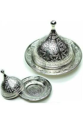 TveT Osmanlı Motifli Lokumluk Büyük - Gümüş