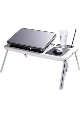 TveT Portatif Katlanabilir Soğutuculu Laptop Sehpası