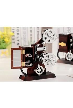 TveT Projektör Şeklinde Takı Çekmeceli Müzik Kutusu