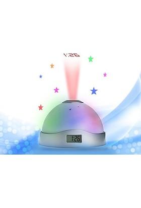 TveT Renk Değiştiren Projeksiyon Alarmlı Saat