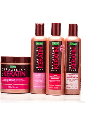 Nunaat Deep Moisturizing Keratin Hair Care Kit 4'lü set