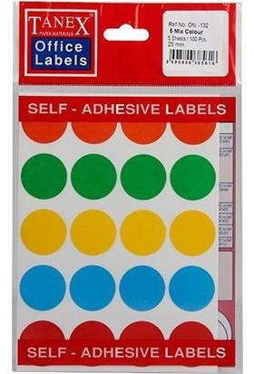 Ofc-132 Mıx Color Ofis Etiketi 50 Ad-10-Lu Poşet