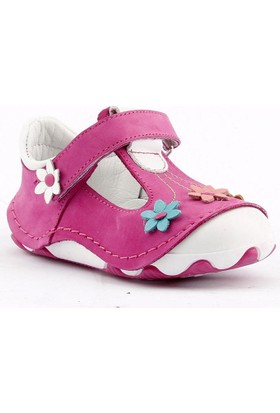 Teo Bebe 3000 %100 Deri Ortopedik Cırtlı Kız Çocuk Ayakkabı