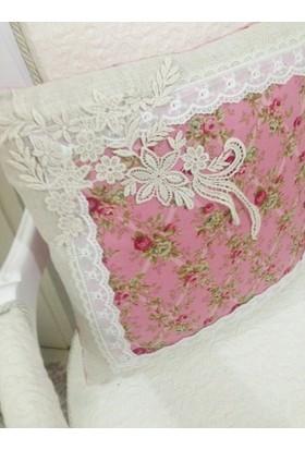 Victorian Rose Boutique Pembe Shabby Chic Yastık