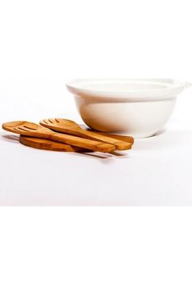 Evdebir Porselen Bambu Salata Kasesi