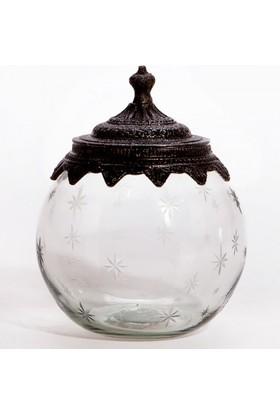 Evdebir Eskitme Gümüş Kavanoz Küçük