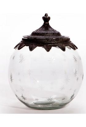 Evdebir Eskitme Gümüş Kavanoz Büyük