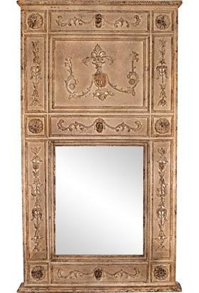 Evdebir Elain Ahşap Çerçeveli Antik Ayna