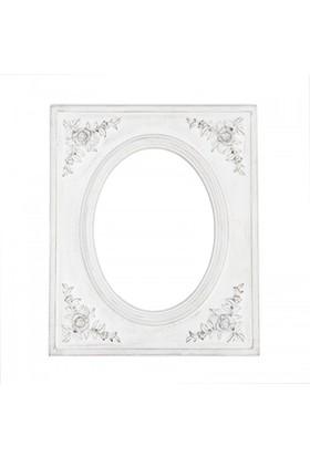 Evdebir Kabartmalı Ahşap Çerçeveli Duvar Aynası