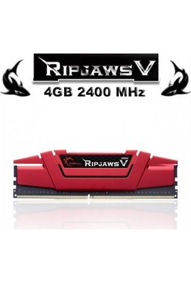 Gskıll Ripjawsv Kırmızı Ddr4-2400Mhz Cl15 4Gb (1X4Gb) (15-15-15-35) 1.2V