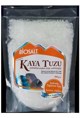 Biosalt Kristal İri Taneli Tuz (Kilitli Doypack) Çankırı Kaya Tuzu 500 Gr
