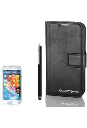 Gpack Samsung Galaxy S4 Mini Kılıf Standlı Serenity Cüzdan +Kalem+ Cam
