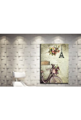 Kanvas Tablo Bisiklet Paris Model