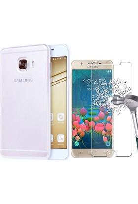KılıfShop Samsung Galaxy J7 Prime Silikon Kılıf + Ekran Koruyucu