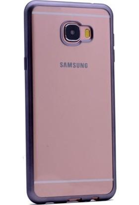 KılıfShop Samsung Galaxy C7 Lazer Kesim Silikon Kılıf