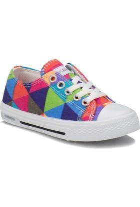 Kinetix Denni T Turuncu Gri Yeşil Kız Çocuk Sneaker Ayakkabı