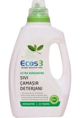 Ecos3 Ultra Konsantre Sıvı Çamaşır Deterjanı 750 ml.