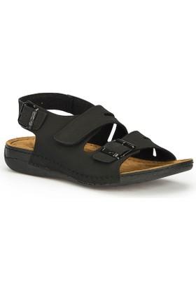 Polaris 71.157731.M Siyah Erkek Sandalet