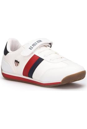 U.S. Polo Assn. Boni Beyaz Unisex Çocuk Sneaker Ayakkabı