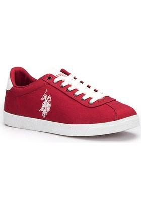 U.S. Polo Assn. Tabor Bordo Kadın Sneaker Ayakkabı