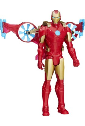 Marvel Avengers Titan Hero Araç ve Figür - Iron Man ve Hovercraft BJ-66B5776-B6156