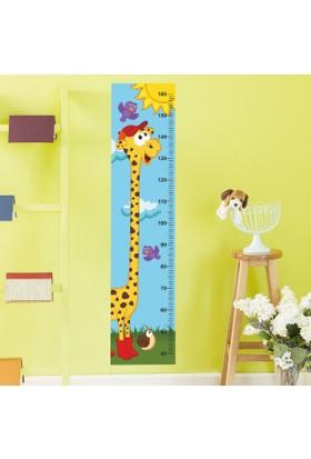 DekorLoft Şirin Zürafa Boy Ölçer Sticker DBC012