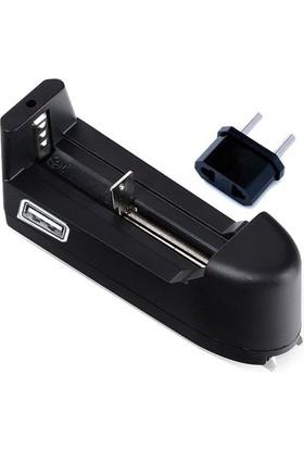 18650 Pil Şarj Cihazı - USB ve 220 Volt İle Şarj İmkanı