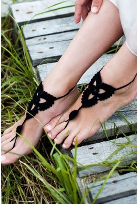 Siyah Ayak takısı Halhal Ayak aksesuarı