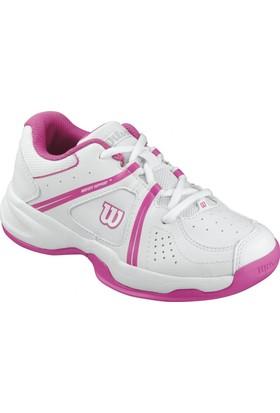 Wilson Çocuk Tenis Ayakkabısı Envy Jr Beyaz / Fandango Pembe WRS320710E030