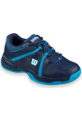 Wilson Çocuk Tenis Ayakkabısı Envy JR Derin Su/ Lacivert/ Tüplü Mavi ( WRS320720E055 )