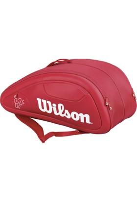 Wilson Tenis Çantası Federer DNA Collection Kırmızı 12 Pack ( WRZ830712 )
