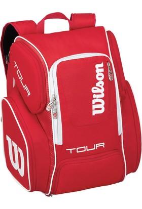 Wilson Tenis Çantası Tour V Backpack Large Kırmızı ( WRZ843696 )