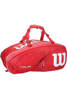 Wilson Tenis Çantası Tour V 15 Pack Kırmızı ( WRZ867615 )
