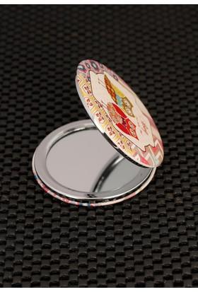 Hediyeliksepeti Çift Baykuş Figürlü Renkli Desenli Cep Aynası Ayn106