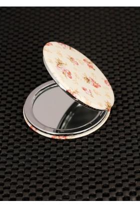 Hediyeliksepeti Floral Desenli Cep Aynası Ayn124