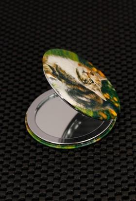 Hediyeliksepeti Kedi Figürlü Cep Aynası Ayn148
