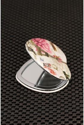 Hediyeliksepeti Paris Resimli Kalp Formlu Cep Aynası Ayn160
