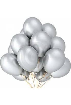 Clk Metalik Sedefli Açık Gri Balon