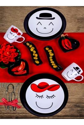 Keramika 2 Kişilik 10 Parça Gülen Yüz Ege Kahvaltı Takımı