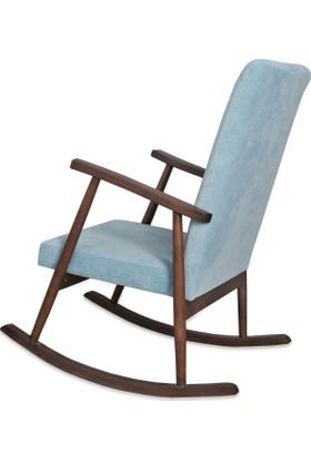 Asedia Teksas Ceviz - Mavi Sallanan Sandalye