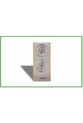 Narvi Termometre-Higrometre Ahsap Sauna Saati
