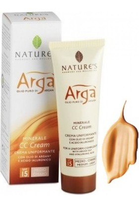 Nature's Arga Minerale Cc Cream Spf 15 Medium Light 50 Ml